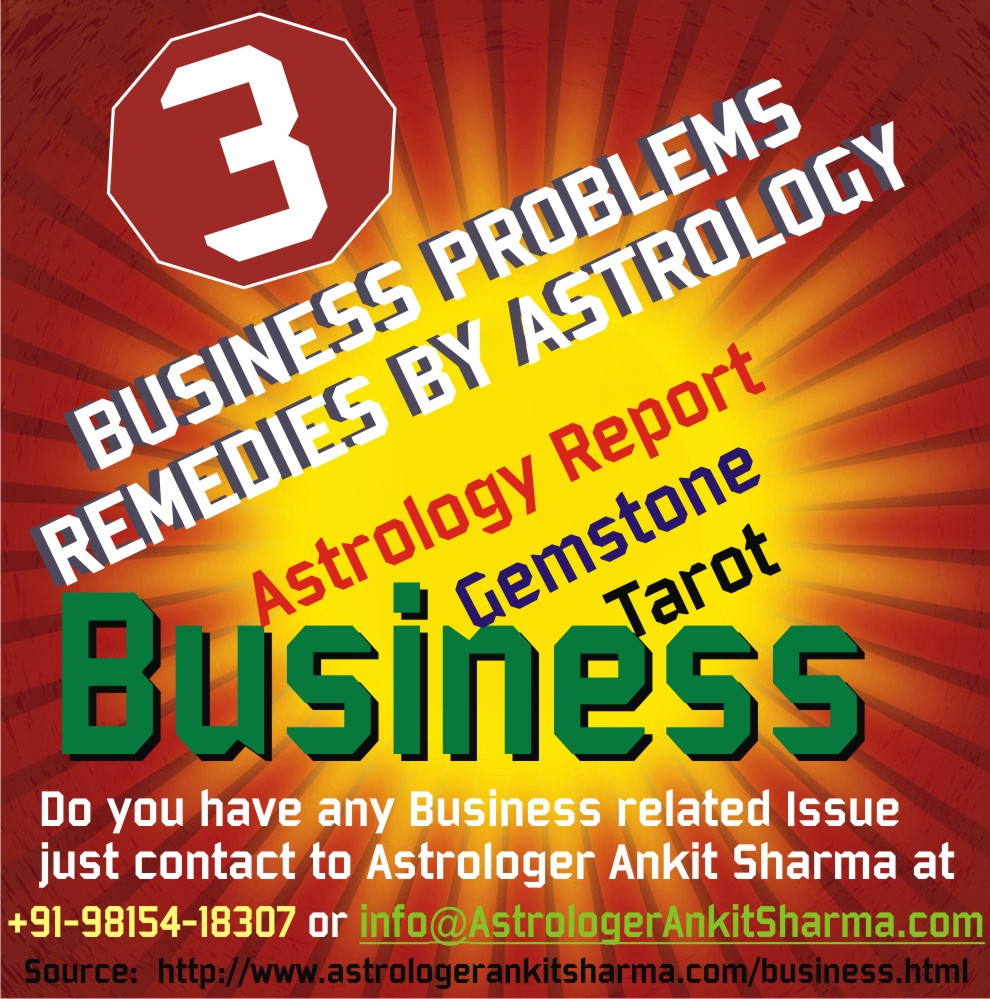 3 Business Problems Remedies by Astrology