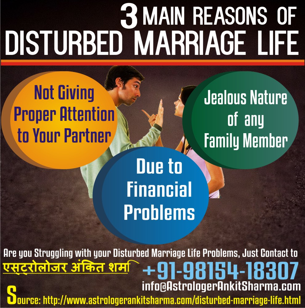 3 Main Reasons of Disturbed Marriage Life