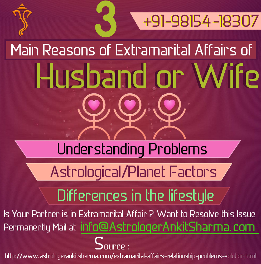3 Main Reasons of Extramarital Affairs of Husband or Wife