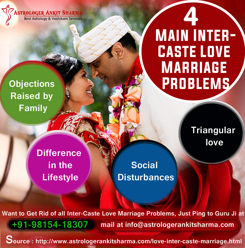4 Main Intercaste Love Marriage Problems Solution by Pandit Ankit Sharma