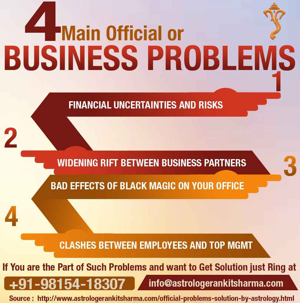 4 Main Official or Business Problems