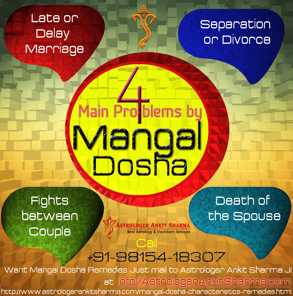 4 Main Problems by Mangal Dosha