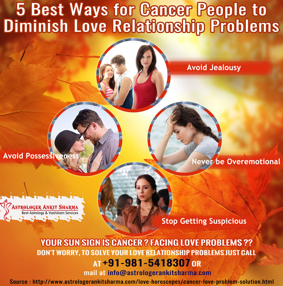5 Best Ways for Cancer People to Diminish Love Relationship Problems