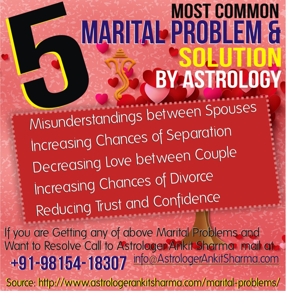 5 Most Common Marital Problems and Solution by Astrology