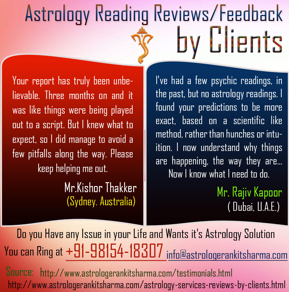 Astrology Reading Reviews Feedback by Clients