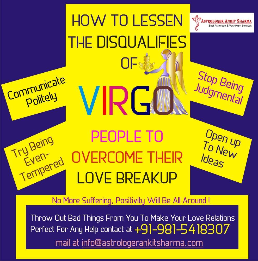 How to Lessen the Disqualifies of Virgo People to Overcome their Love Breakup