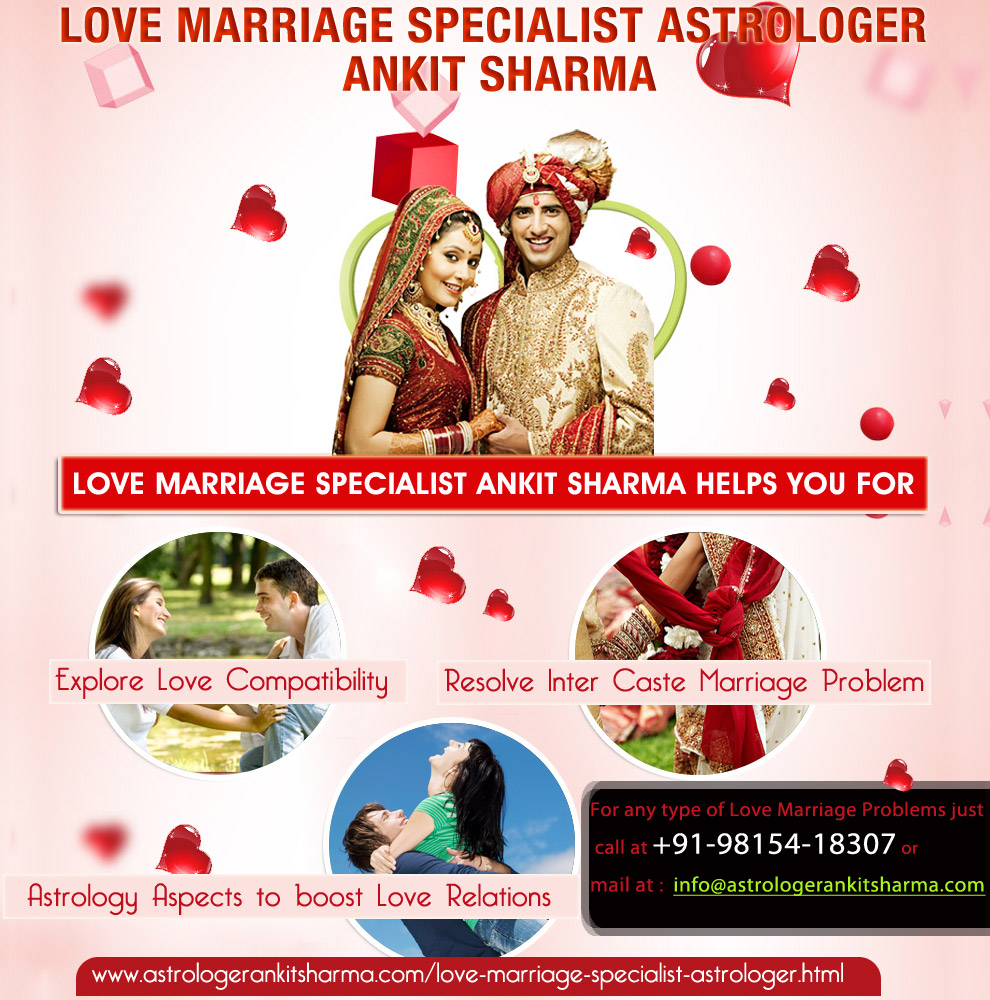 Love Marriage Specialist Ankit Sharma helps for Resolving Problems