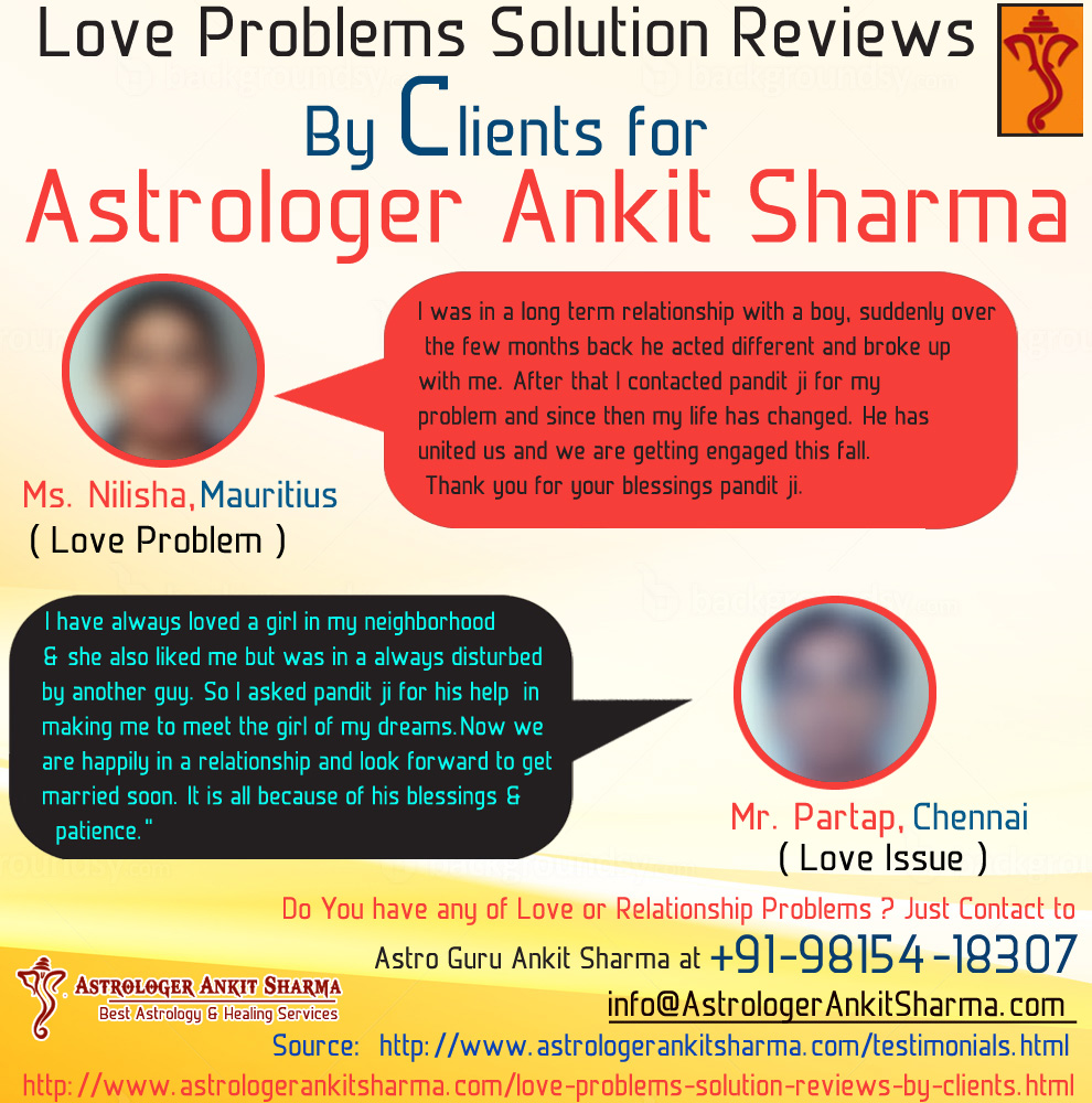 Love Problem Solution Reviews by Clients