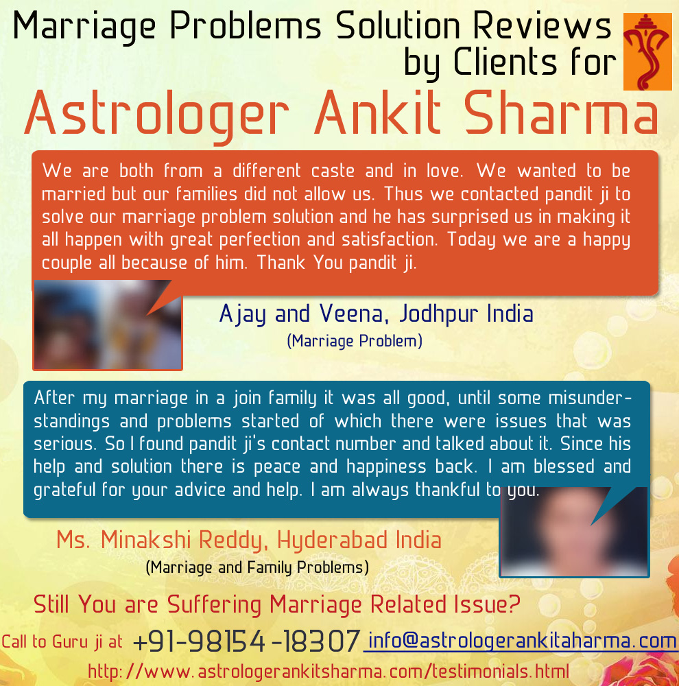 Marriage Problem Solution Reviews by Clients